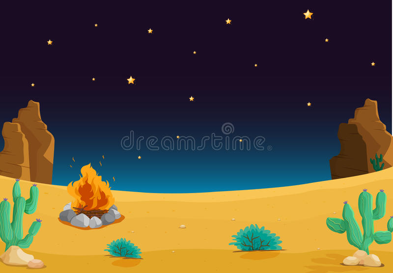Woestijn vector illustratie