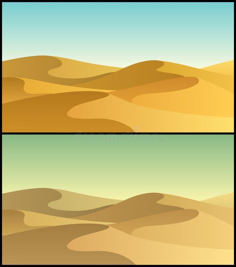 Woestijn 3 stock illustratie