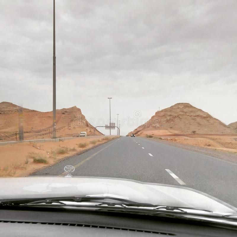 Woestijn De V.A.E royalty-vrije stock afbeelding