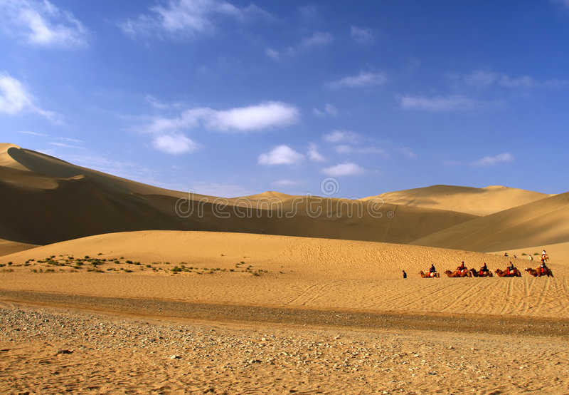 Woestijn, Dun Huang, China stock afbeeldingen