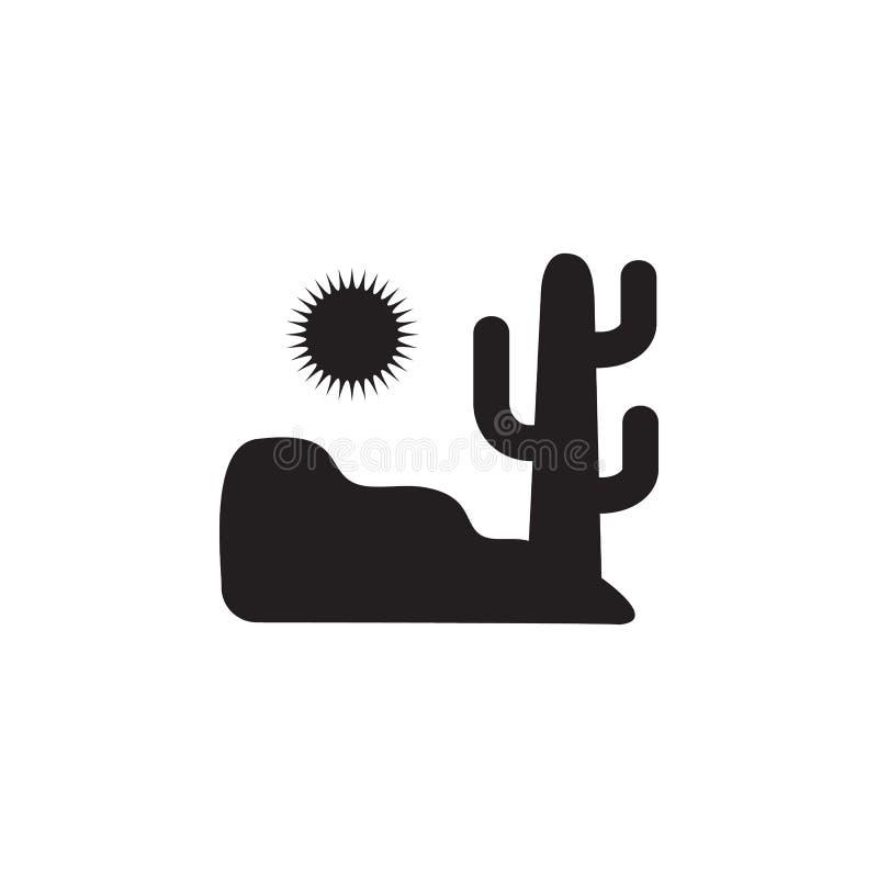 woestijn en cactuspictogram Element van landschapsillustratie Grafisch het ontwerppictogram van de premiekwaliteit Tekens en symb vector illustratie