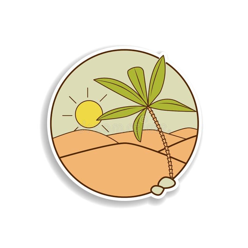 woestijn en van de palmensticker pictogram Element van pictogram van de kleuren het Arabische cultuur Het pictogram van het de st vector illustratie
