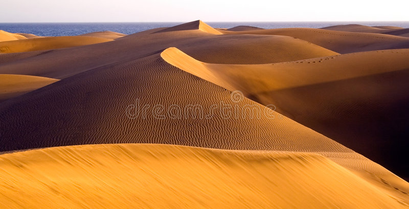 Woestijn Maspalomas Gran Canaria royalty-vrije stock foto