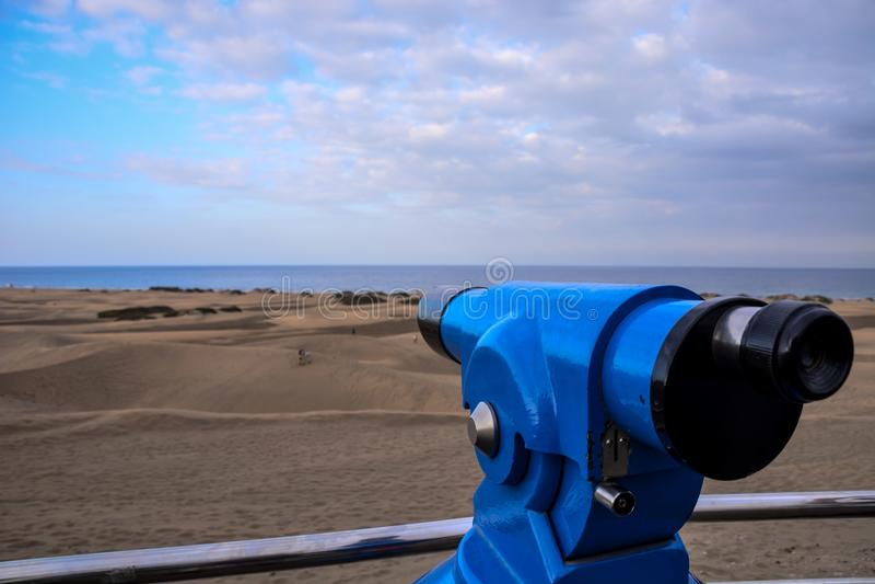 Woestijn met zandduinen in Gran Canaria Spanje stock afbeeldingen