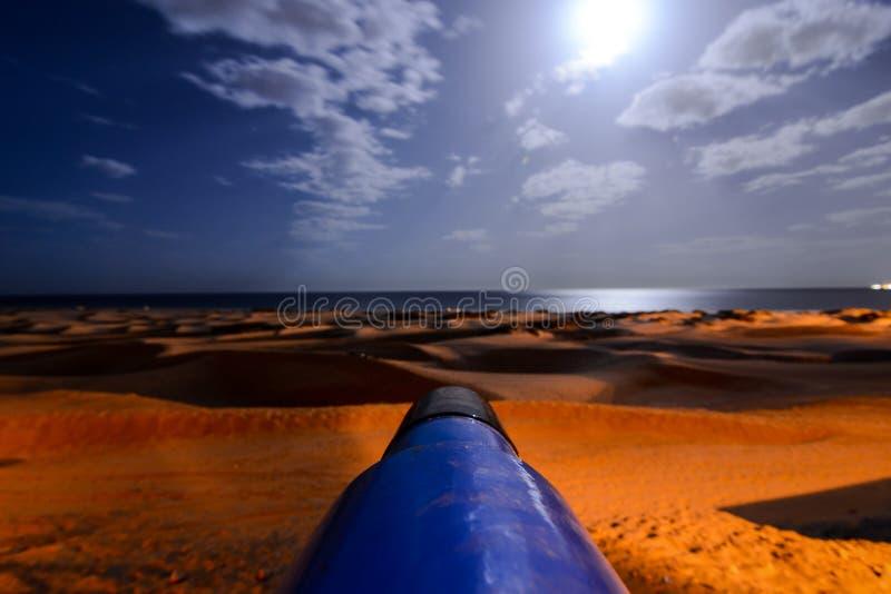 Woestijn met zandduinen in Gran Canaria Spanje stock afbeelding