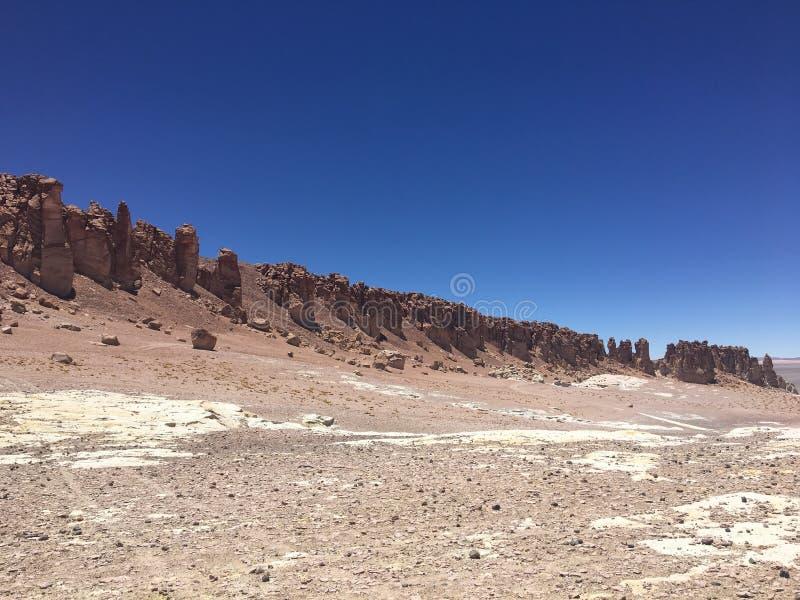 Woestijn van atacama stock afbeeldingen