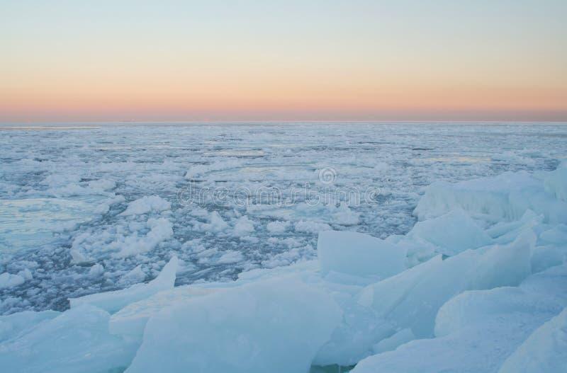Woestijn van ijs royalty-vrije stock foto