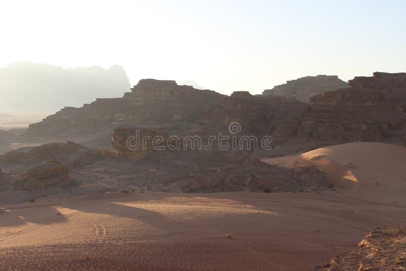 Woestijn van Wadi Rum, Jordanië royalty-vrije stock foto's