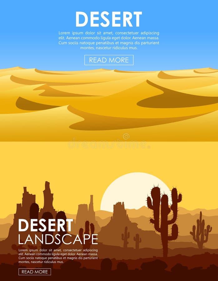 Woestijn vectorreeks vector illustratie