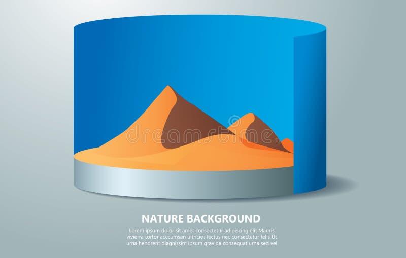 Woestijnachtergrond met tekst ruimte vectorillustratie royalty-vrije illustratie