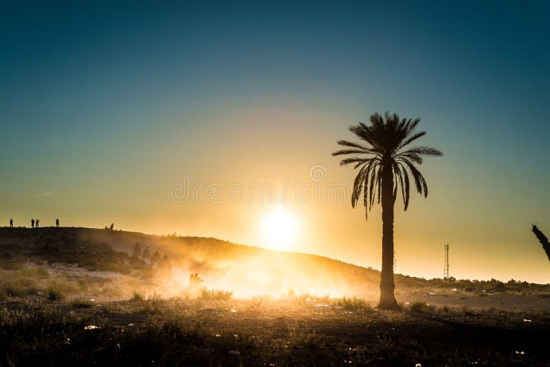 Woestijnactiviteiten in Tunesië stock foto