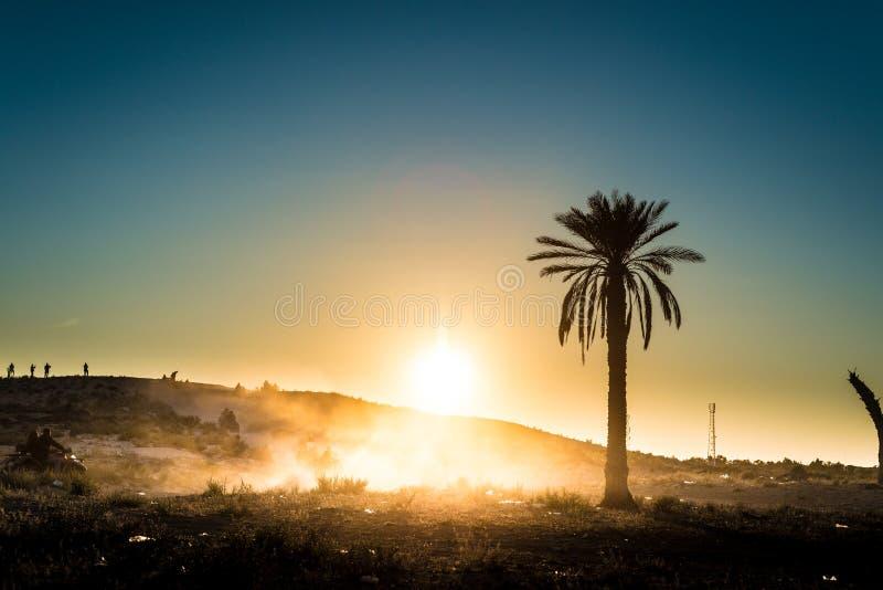Woestijnactiviteiten in Tunesië royalty-vrije stock foto