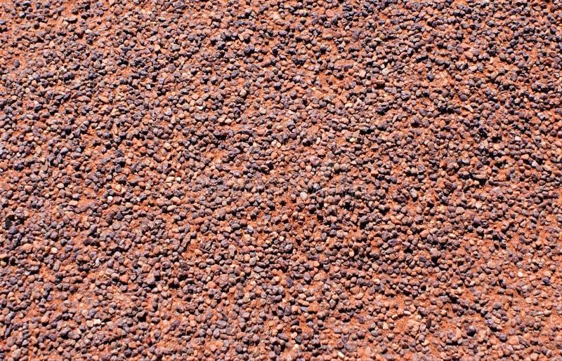 Woestijnbestrating in het blijven wordt behandeld kiezelstenen die royalty-vrije stock foto