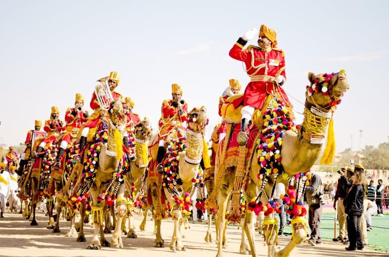 Woestijnfestival, Jaisalmer, Rajasthan, India stock afbeelding