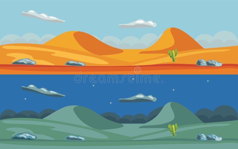 Woestijnlandschap royalty-vrije illustratie
