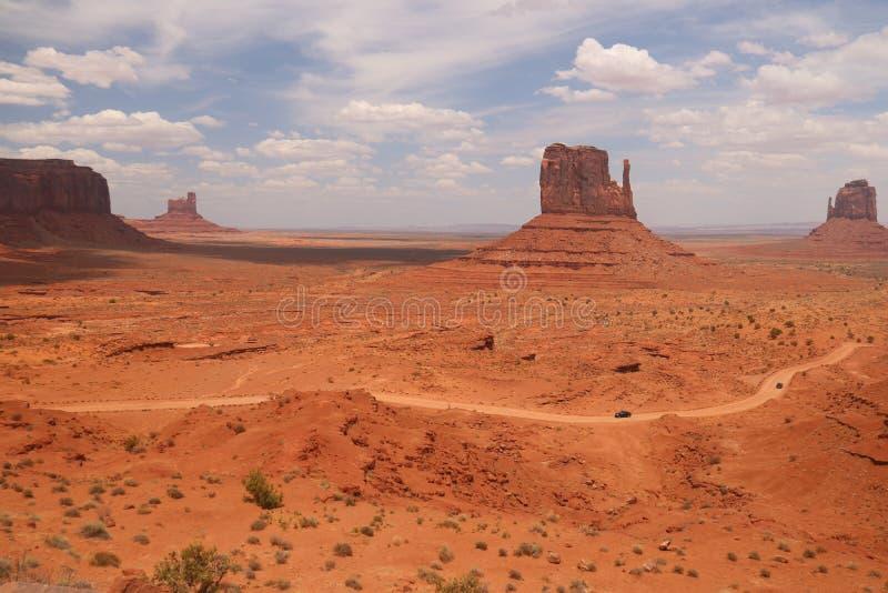 Woestijnlandschap in Arizona, Monumentenvallei Kleurrijk, toerisme royalty-vrije stock afbeelding