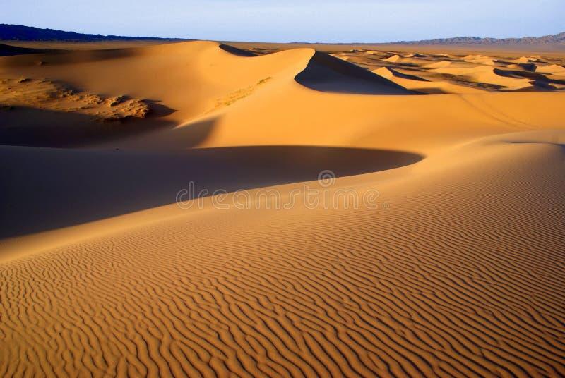 Woestijnlandschap, de woestijn van Gobi, Mongolië royalty-vrije stock afbeelding