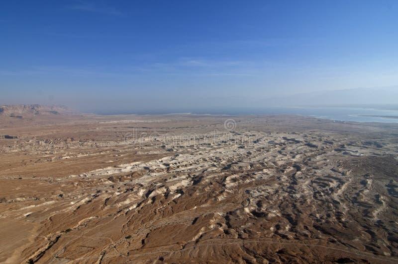 Woestijnlandschap dichtbij het Dode Overzees stock foto