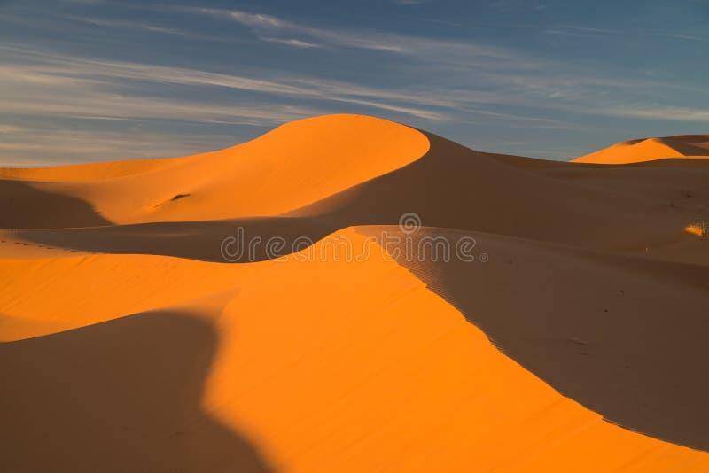 Woestijnlandschap in Morroco royalty-vrije stock foto