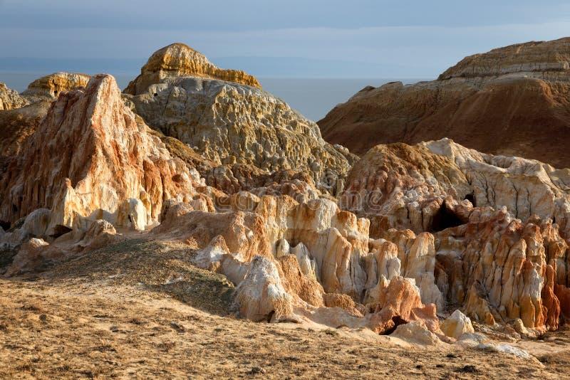 Woestijnplaats in oostelijk Kazachstan stock fotografie