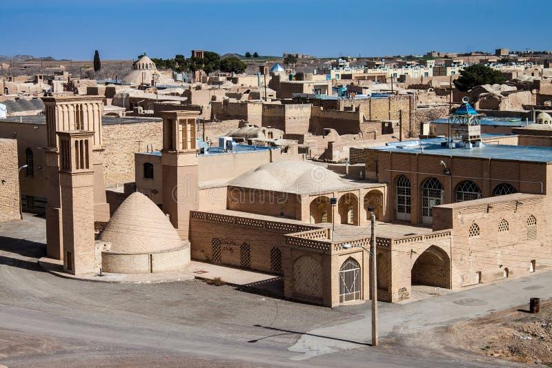 Woestijnstad Naein stock foto
