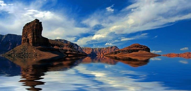Woestijnwater stock foto