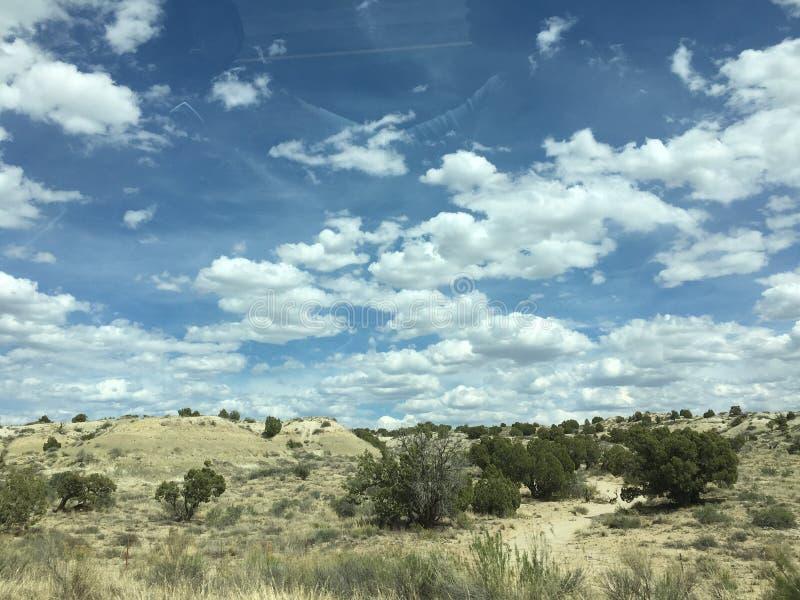 Woestijnwolken royalty-vrije stock foto's