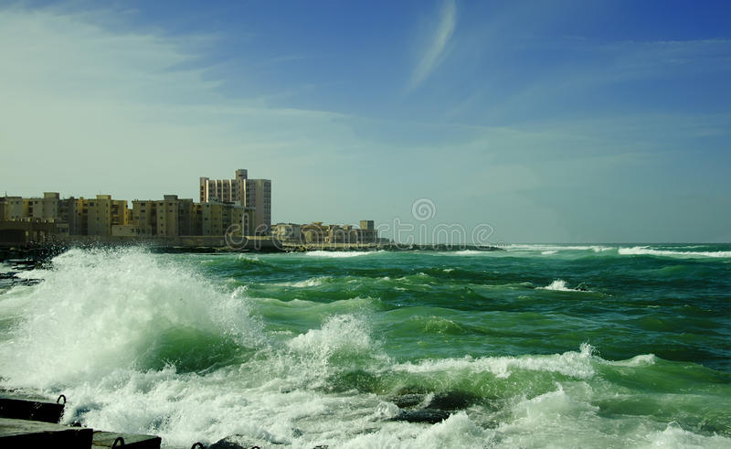 Woge von Mittelmeer stockfotografie
