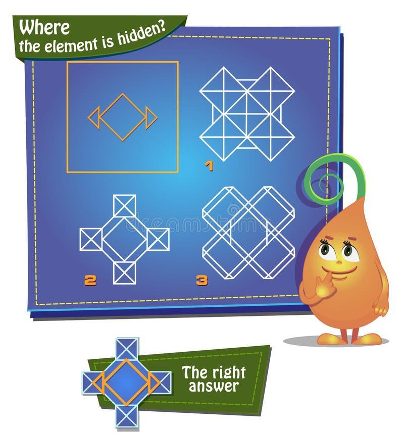 Woher das Element wird versteckt? stock abbildung