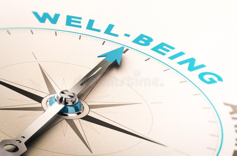 Wohl oder Wellness lizenzfreie abbildung