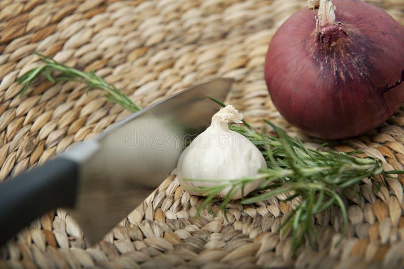 Wohlschmeckende kochende Bestandteile stockfoto