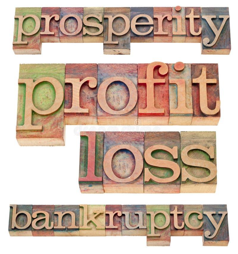 Wohlstand und Bankrott lizenzfreie stockbilder