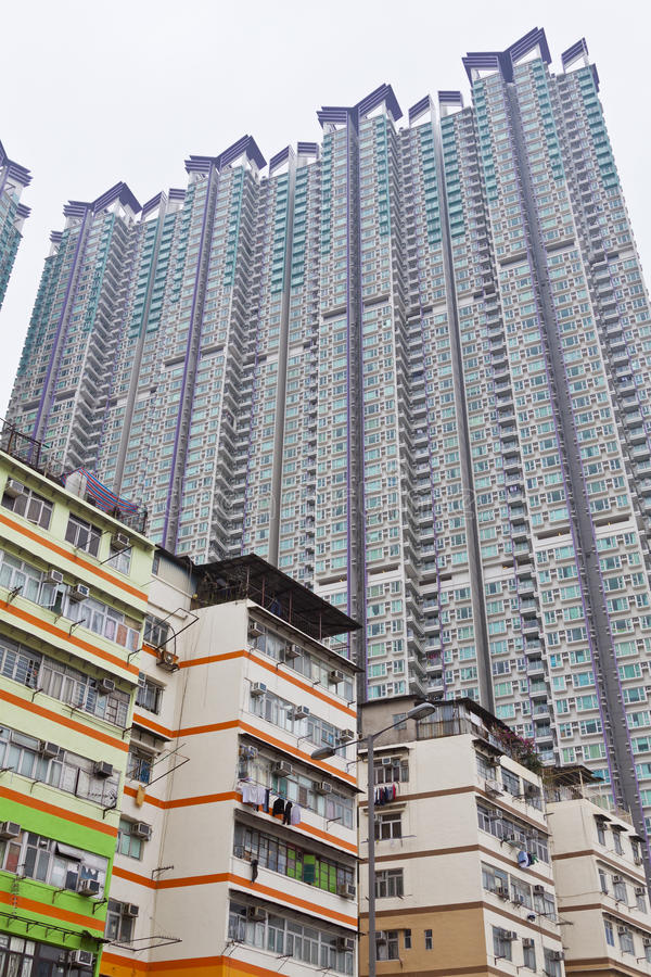 Wohnblöcke in Hong Kong stockfoto