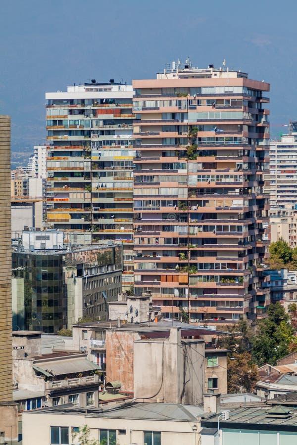 Wohnblock in Santiago de Chi lizenzfreies stockfoto