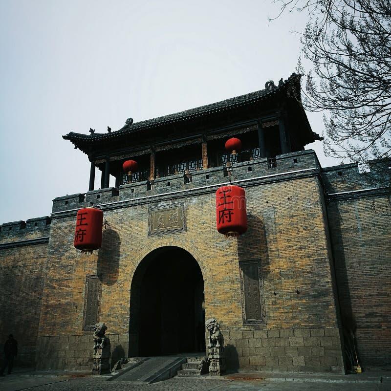 Wohnfamilienhaus in Shanxi lizenzfreie stockbilder