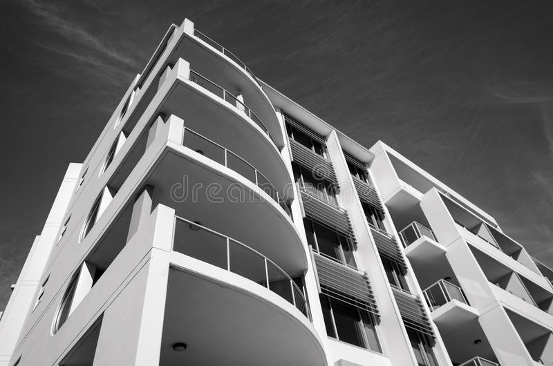 Wohngebäude am Hafen Macquarie in Australien lizenzfreies stockfoto
