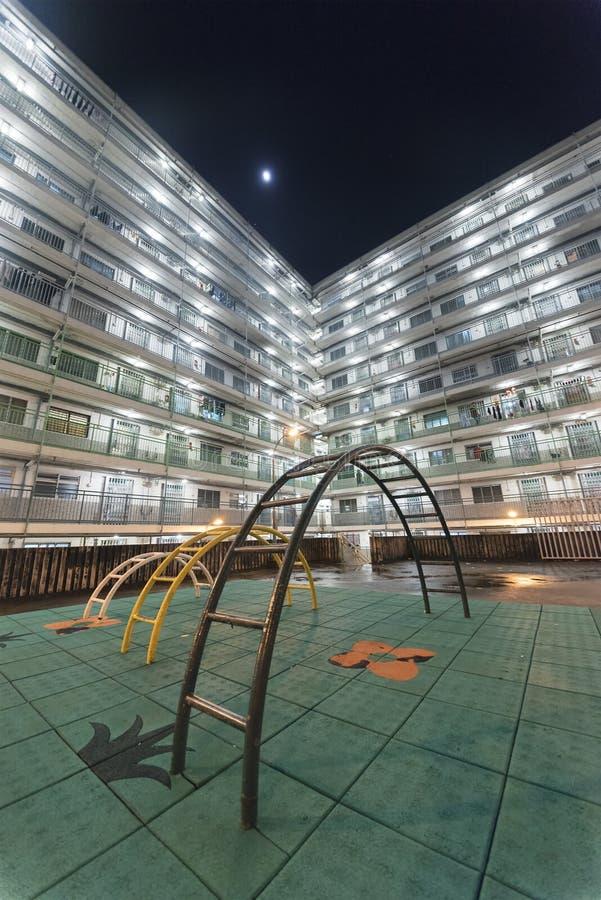 Wohngebäude in Hong Kong-Stadt stockbild