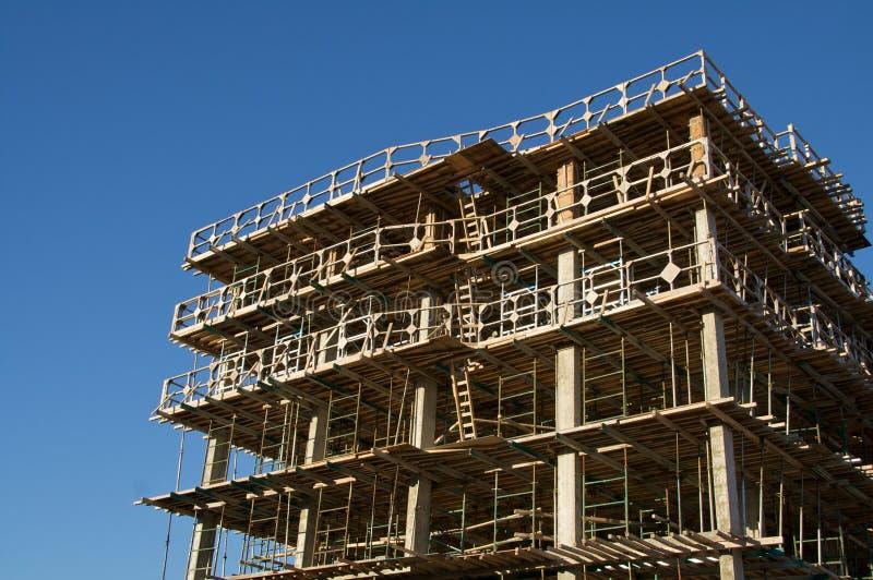 Wohngebäude im Aufbau stockfotos