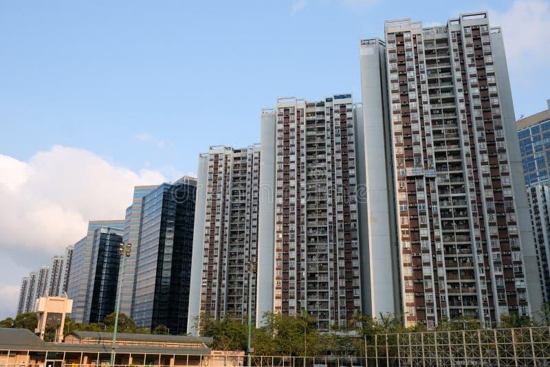 Wohngebäude Taikoo Shing Hong Kong lizenzfreie stockfotos