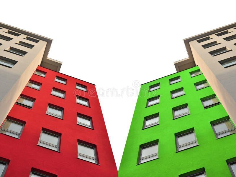 Städtisches Wohngebäude stockbilder