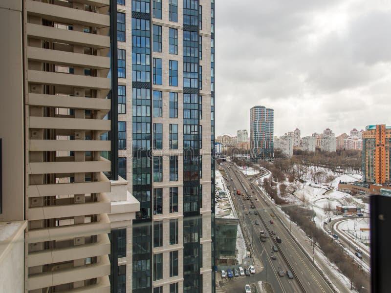 Wohngebiet, Ansicht oben Ansicht von Moskau stockfotografie