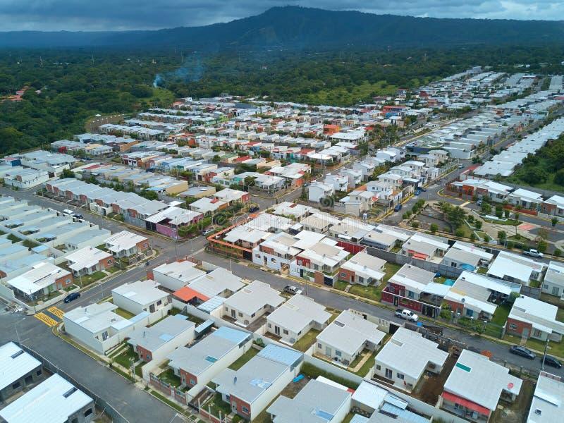 Wohngemeinschaftsvogelperspektive stockfoto