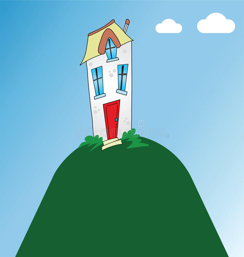 Wohnhaus lizenzfreie abbildung