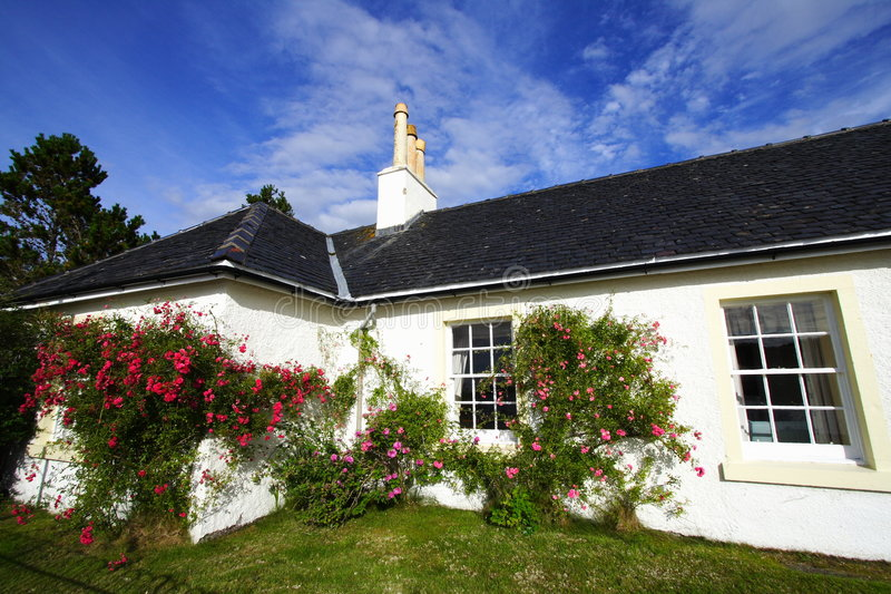 Wohnhaus und Garten lizenzfreie stockfotografie