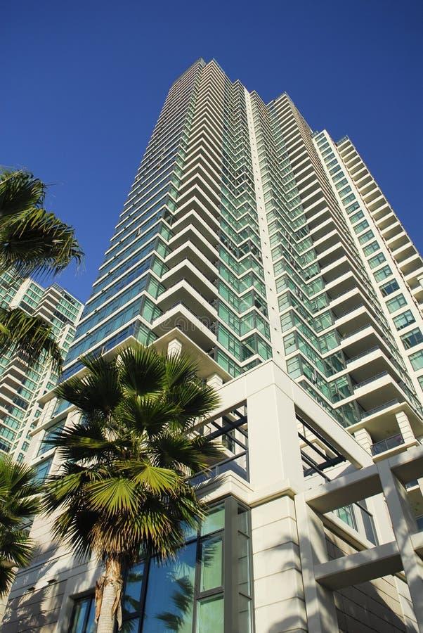 Wohnkontrollturm des hohen Anstiegs in San Diego lizenzfreie stockfotos