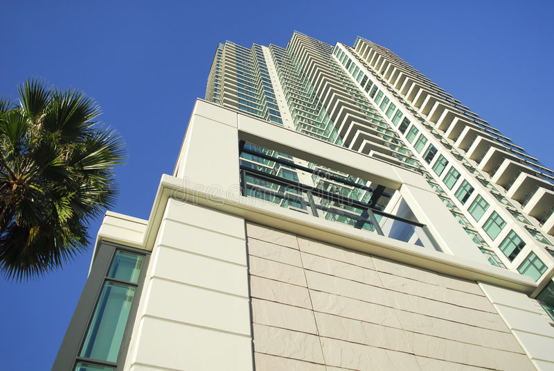 Wohnkontrollturm des hohen Anstiegs in San Diego stockbild