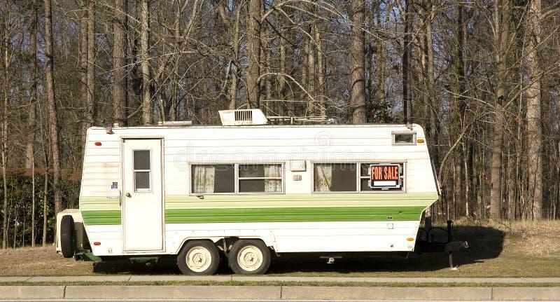 Wohnmobil-Schlussteil für Verkauf stockbilder