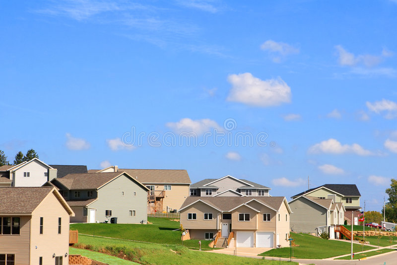 Wohnnachbarschaft stockfoto