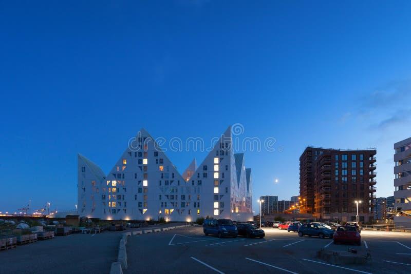 Wohnnachbarschaft, Dänemark lizenzfreie stockfotos