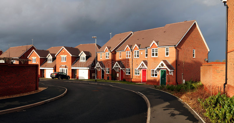 Wohnsiedlung England stockbilder